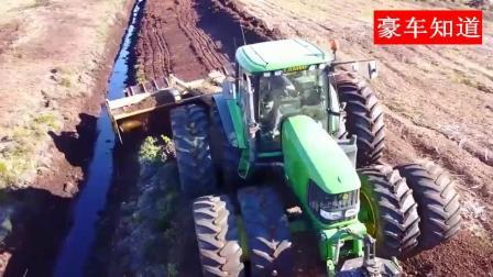 农田深耕专用的多轮拖重型拉机, 动力十足而且不会打滑
