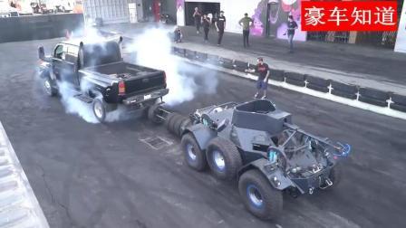 涡轮增压柴油发动机的四驱车能否拉动装甲车, 看看外国小伙的测试