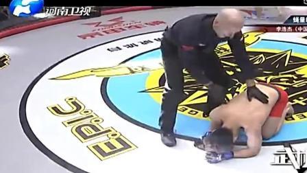 精彩, 韩国选手被重击咽喉部位跪地不起!