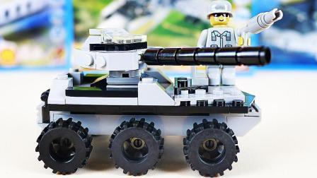 儿童坦克车积木拼插玩具