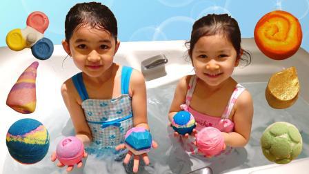 各种各样的沐浴球  快来一起体验吧~
