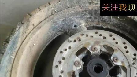 捡来一个摩托车轮胎-稍加翻新就赚钱!