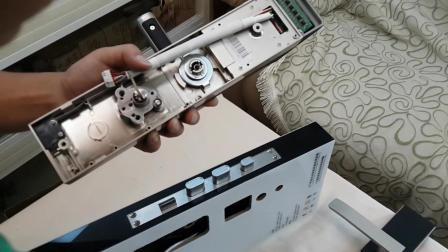 指纹锁的配件以及安装方式