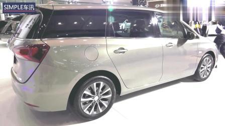 广州车展体验别克GL6, 座椅舒服, 但空间有点压抑