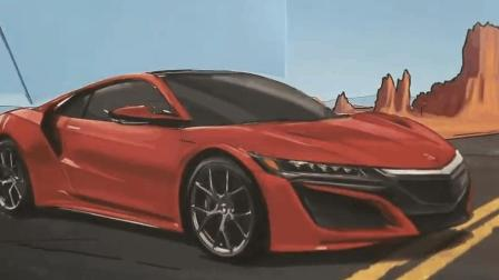 《Honda Paper》3000张插画神级广告