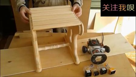 实拍国外牛人制作木头凳子的过程, 这设计我给满分