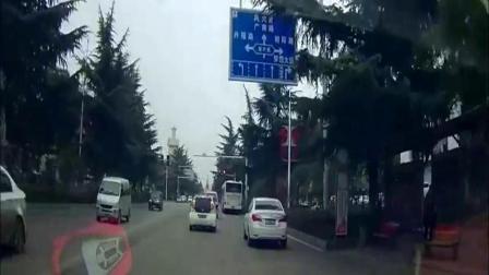 前面的车都停车等红灯了, 视频车司机却没有刹车的意思