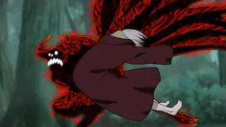 火影: 八尾 九尾人柱力被轻易制服。还好有鼬神出手。