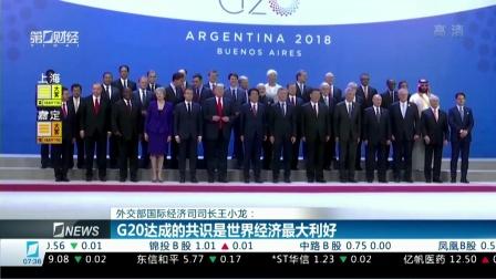 外交部国际经济司司长王小龙:G20达成的共识是世界经济最大利好 财经早班车 20181203 高清版