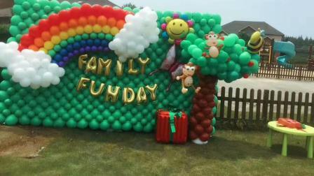 你好气球, 气球造型, 鱼骨法彩虹