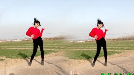 农村媳妇麦地里跳舞教学《不如跳舞》太激情动感了,快看