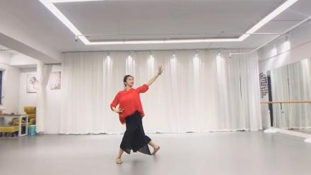 小影老师的古典舞身韵, 红色衣服太飘逸, 一个转身如裙摆飞扬