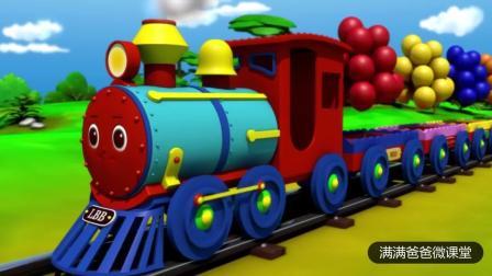 简单慢速英文儿歌: The Clolr Train Song