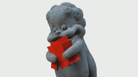 原创手办给你快乐!手办石狮子爆笑来袭,咧嘴大笑表情丰富逗乐全场 淘宝12.12人民的宝贝总决选 20181206