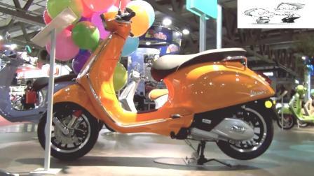 踏板车界爱马仕, 实拍Vespa Sprint 125, 纯铁外壳, 配备ABS!