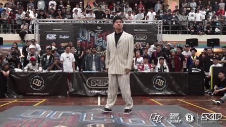街舞表演, Hozin一上来就卡点, 很少见到他这种打扮
