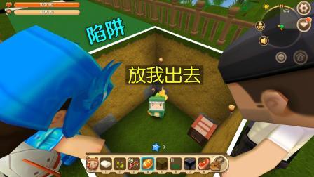 迷你世界: 妮妮你骗人, 说好一起玩跑步比赛的, 我怎么掉坑里了?