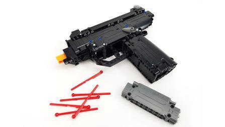 这外形真香! 咔搭积木积木枪系列微型冲锋枪速组评测【月光砖厂】