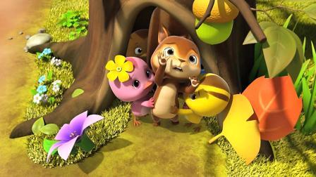 《萌鸡小队》小松鼠真是一个吃货呀