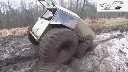这开的是什么越野车, 轮子也太大了了吧