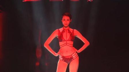 缔妒红色时尚潮流内衣秀, 美女模特性感知性, 身材修长, 超养眼!