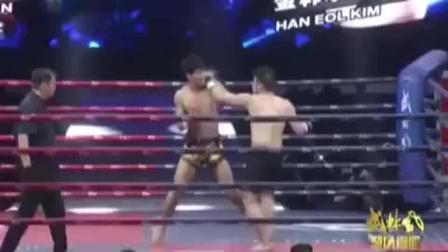 韩国拳手惹谁不行惹方便, 被暴揍KO一分钟!