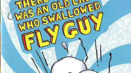 There was an old lady who swallowed fly guy | Can Cubs storytime