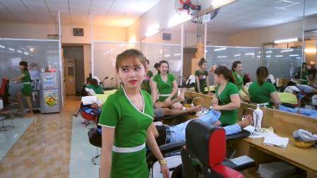 越南理发店和中国有什么不一样? 小伙专程体验, 接待都不一般