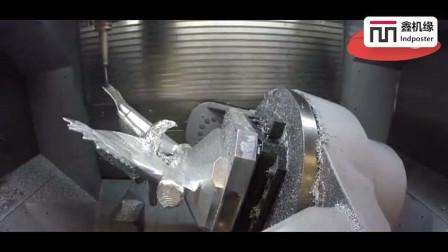 5轴数控机床, 加工一只鹰, 这技术不服不行_腾讯视频