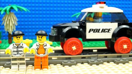 定格动画-乐高城市故事之铁道警察极速追捕