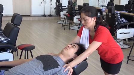 越南特色肩部spa, 缓解压力, 小哥感到很放松