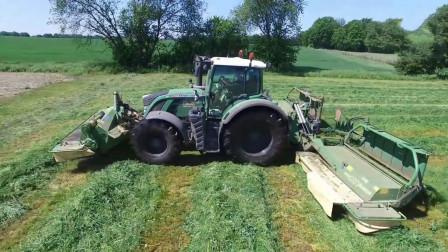 德国大型割草机, 割草速度惊人, 看着好刺激