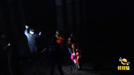 湖北十堰 武当山一女子轻生跳河 民警消防寒夜施救