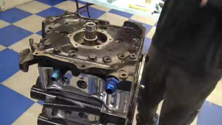 四缸双增压转子发动机组装视频