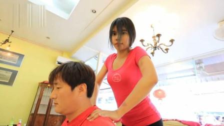 越南专业的颈椎按摩, 充分放松你的颈椎, 舒服至极