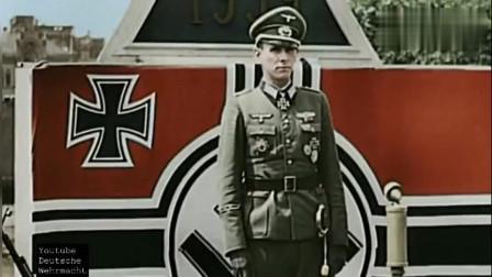 二战珍贵彩色影像: 1944年德国武装党卫军与国防军装甲部队