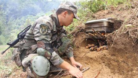 军队野外做饭怕冒烟暴露位置怎么办? 解放军挖了一个坑就搞定了