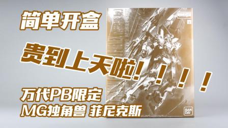 【简单开盒】贵到上天的凤凰! 万代 PB 限定MG 电镀菲尼克斯 NT版 高达模型板件属性