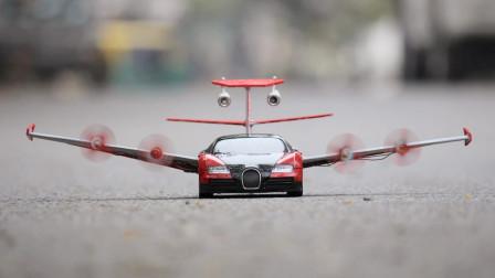 给玩遥控小汽车安装上螺旋翅膀可以飞起来么