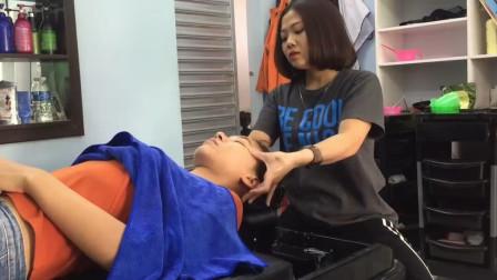 越南美女按摩师, 不止手艺好, 唱歌也很好听