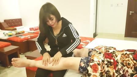 腿部按摩, 放松腿部肌肉, 看着特别舒服