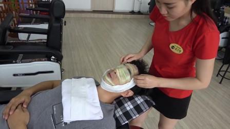 脸部护理, 越南专业按摩, 看着特别舒服