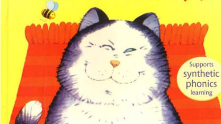 看英文绘本 轻松学英语口语 超有趣英文绘本Fat cat on a mat