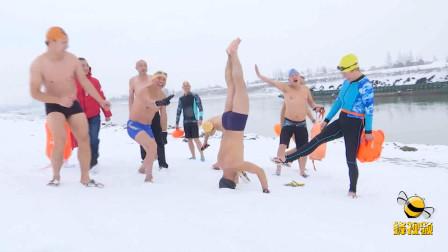 湖北汉川 用冬泳的特殊方式突破自我 迎接新年