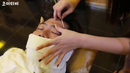 体验越南脸部清理, 小姐姐手法专业, 刮的很干净
