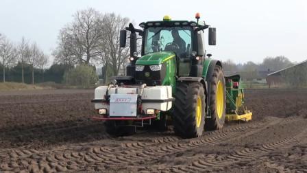 德国大型农场种植土豆, 全部机械化处理, 一天上百亩不是问题