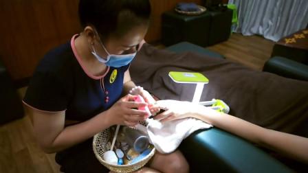来看看越南帝王级的服务, 专业刮指手艺, 太舒服了