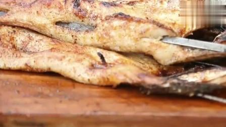 烤乔尔泰鱼只需放上一点盐, 口感外酥里嫩