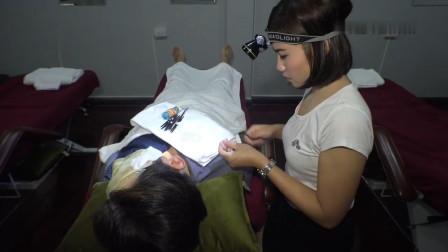 越南专业采耳手艺, 技师认真仔细, 看着就很舒服
