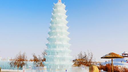 宁夏石嘴山  冬日里别样风情  惊艳壮观的冰塔